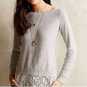 Anthro Lace Elbow Patch Sweater